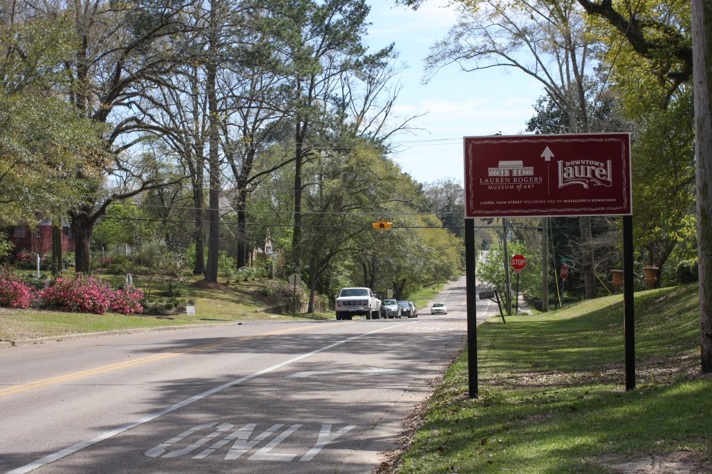 Follow the signs to explore Downtown Laurel, Mississippi!