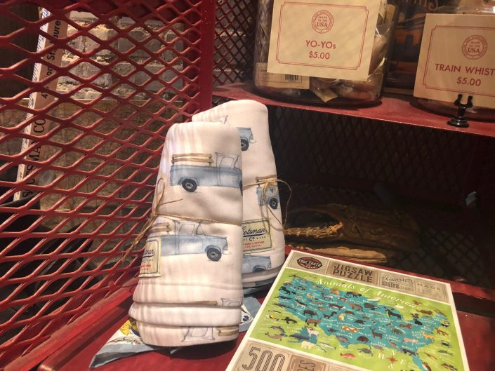 Scotsman Co. truck baby blankets by Adam Trest
